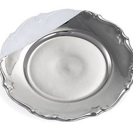 Paola Navone - Silver Shiny Baroque Plate
