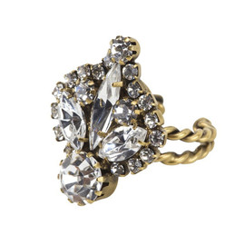 Elizabeth Cole - MARQUIS CRYSTAL RING