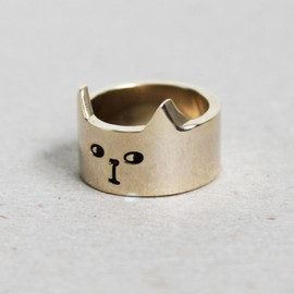 Lazy Oaf Cat Ring Gold