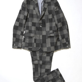 Band of Outsiders - Checkered Pattern Wool Suit