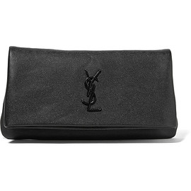 SAINT LAURENT - Monogramme West Hollywood fold-over textured-leather clutch