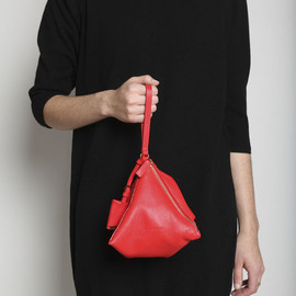 Jil Sander -  Square Evening Bag - Red Pepper