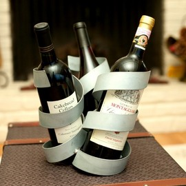 Wine Barrel Concepts - Charlie's Angles Three-Bottle Holder