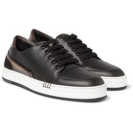 Berluti - Vitello Suede-Trimmed Leather Sneakers