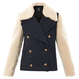 McQ, Alexander McQueen - Shearling sleeve peacoat