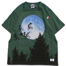 HEADGOONIE - OVER THE MOON! T-shirts(FOREST GREEN)