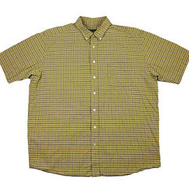 Eddie Bauer - Vintage 90s Eddie Bauer Plaid Button Down Shirt in Yellow/Gray Mens Size XL Tall