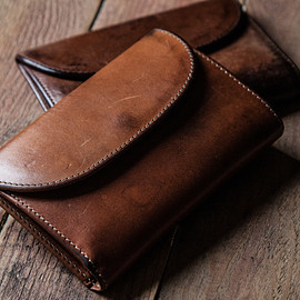 Whitehouse Cox - LONG WALLET / VINTAGE 2TONE (CONKER/NATURAL)