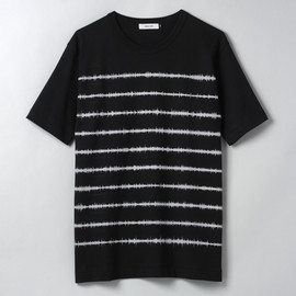 "DENIAL SHIRT - SOUND WAVE BORDER SHIRT ""UNKNOWN PLEASURES"""