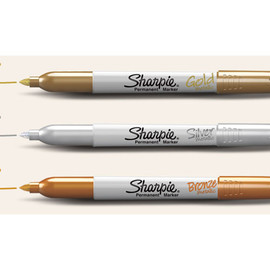 Sharpie - Metallic Permanent Markers Gold & Silver