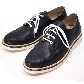 Suede Wing Tip Shoes