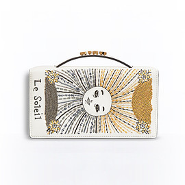 Christian Dior - SS2017 TAROT POUCH IN WHITE LAMBSKIN EMBROIDERED WITH SUN CARD