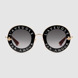 GUCCI - Round-frame metal sunglasses