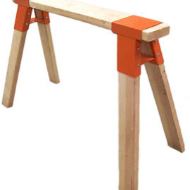 SAWHORSES - NEW HEAVY DUTY SAWHORSE BRACKETS (ONE PAIR)