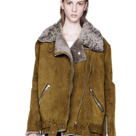 ACNE - Velocite Khaki/Grey Shearling Jacket