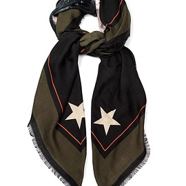 GIVENCHY - Rottweiler wool and silk-blend scarf