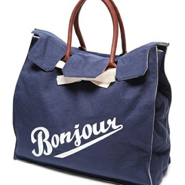 bonjour records - CANVAS BAG 【BIG】