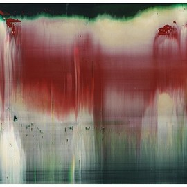 Gerhard Richter - Fuji (1996, oil on aluminium unique editon of 70/30, 29×37/37×29)