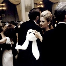 Bunny mask - Candice Bergen at Truman Capote's Black and White Ball, 1966