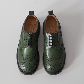 Quilp - Derby Brogue Shoe / Green Aniline
