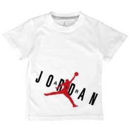 Jordan - Jordan AJ Bold T-Shirt - Boys' Preschool - White/Gym Red