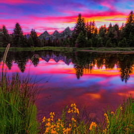 Jackson Hole, WY - Beaver Dam Sunset