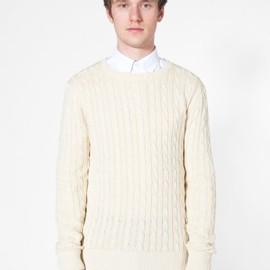 American Apparel - Men's Cable Knit Sweater