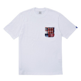 LOOPWHEELER - LW Tee Madras Check Pocket Tee
