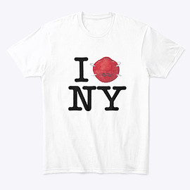 SubwayCreatures - I Protect Ny (Red) White T-Shirt