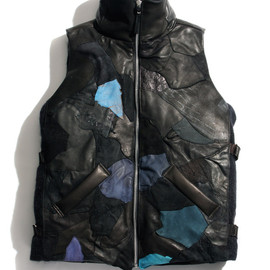 NADA. - Pachwork reather Down Vest