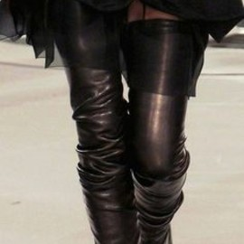 CHANEL - Chanel Black Thigh High Boots ♥