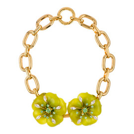 miu miu - Green and Gold Necklace