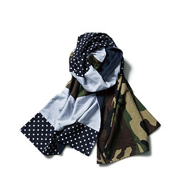 SOPHNET. - FABRIC MIX DOUBLE FACE STOLE