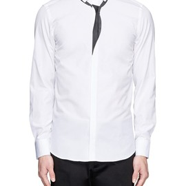 Neil Barrett - Tie print cotton poplin shirt