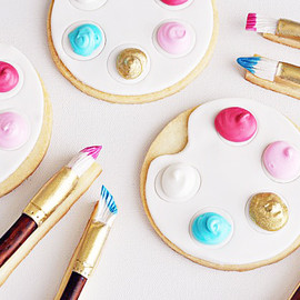Sweetapolita - Artist's Palette & Paintbrush Cookies