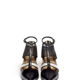 TOGA - Mesh cut-out leather booties