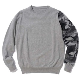 SOPHNET. - CAMOUFLAGE CREW NECK KNIT