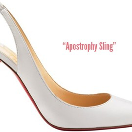 Christian Louboutin - Apostrophy-Sling
