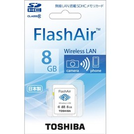 TOSHIBA - FlashAir SDカード 8GB SD-WB008G