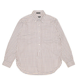 ENGINEERED GARMENTS - 19th BD Shirt-Cotton Tattersall-Blue