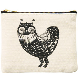"SIMPLE TOTE BAG ""WONDER THREE"" OWL"