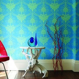 damask patterns wall
