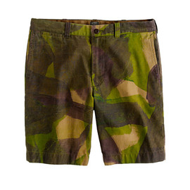 J.CREW - STANTON SHORT IN HAND-PAINTED DPM CAMO
