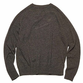 uniform experiment - SAFETY PINS EMBROIDERY LAMBS WOOL CREWNECK KNIT