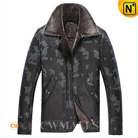 cwmalls - Chicago Camouflage Shearling Bomber Jacket CW861259