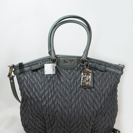 COACH - Coach 18634 Limited Edition Madison Chevron Linsey Satchel Bag Purse Tote