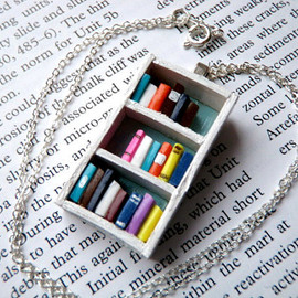 Coryographies - Beach House Bookshelf Necklace by Coryographies (Made to Order)