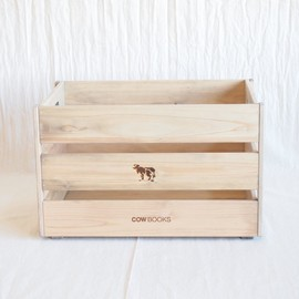 COW BOOKS - Wood Box Big Stacking