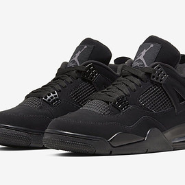NIKE, Jordan Brand - Air Jordan 4 Retro - Black/Black/Light Graphite