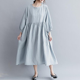Loose Dress  maternity dress Cotton Dress linen Dress long large size Casual dress